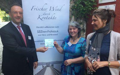 33. SEEhenFrühstück im Zeichen der Gemeinnützigkeit – Herr Häckl spendet großzügig 600.- Euro