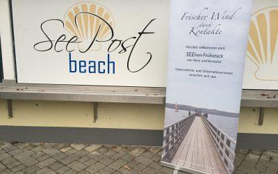 37. SEEhenFrühstück in der Seepost Schondorf mit Sabine Thalmayr und Silke Wolf am 8.11.19