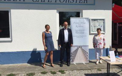 Unternehmer-Sommer-Frühstück bei bestem Sommer-Wetter im See Restaurant Café Forster in Schondorf